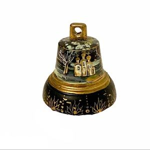 Vintage Collectible HandPainted Russian Brass Bell